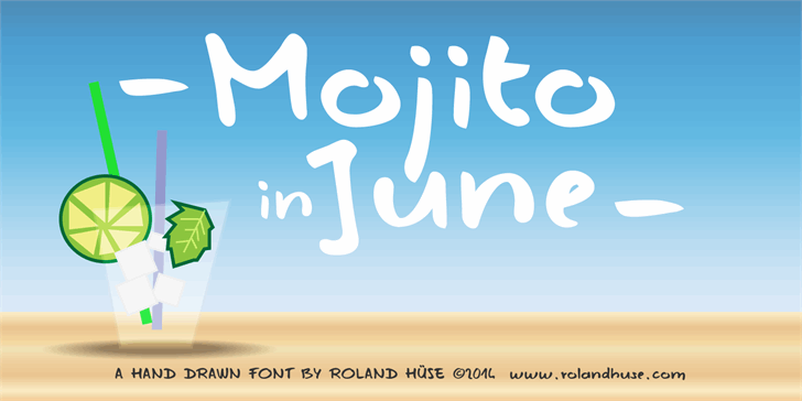 Image for Mojito in June font