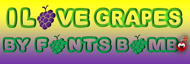 Image for Fonts Bomb I love grapes font
