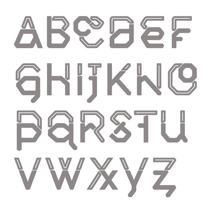 Middlecase Next font by morice