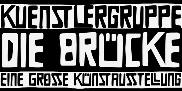 Image for DK Die Bruecke font