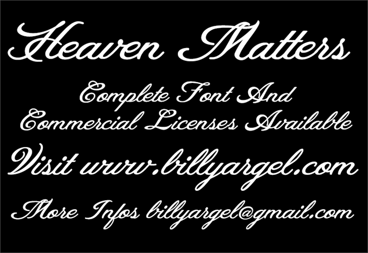 Image for Heaven Matters Personal Use font