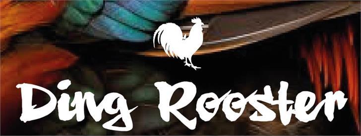 Ding Rooster font by VVB DESIGNS