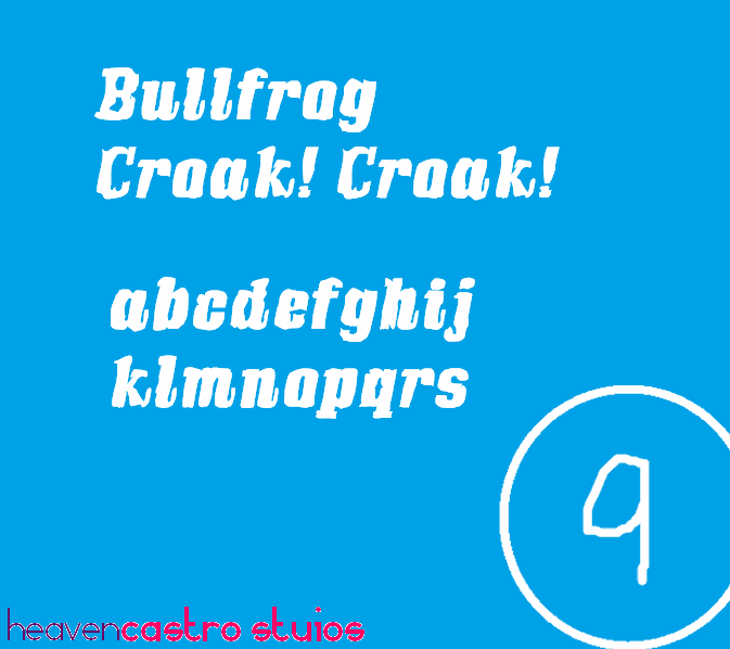 Image for Bullfrog font