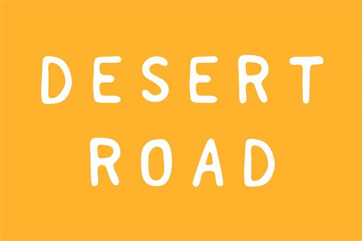 Desert Road font by Zansari NZ