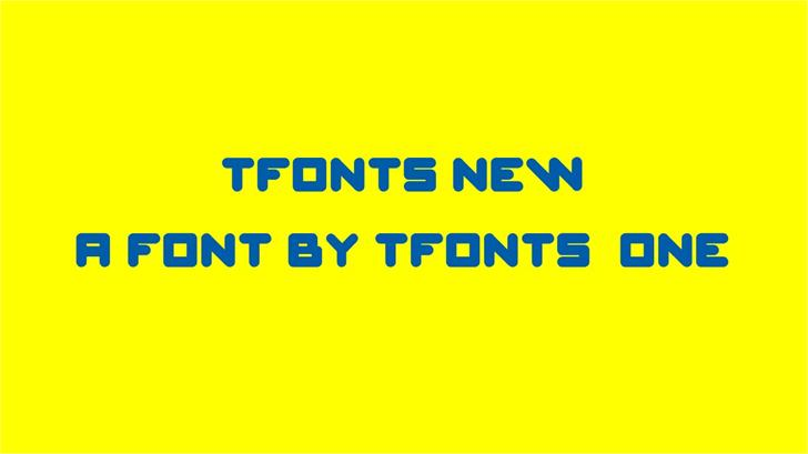 Image for TFonts New font