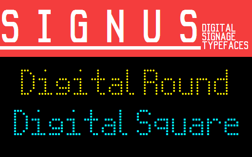 Image for Signus Digital Round NBP font