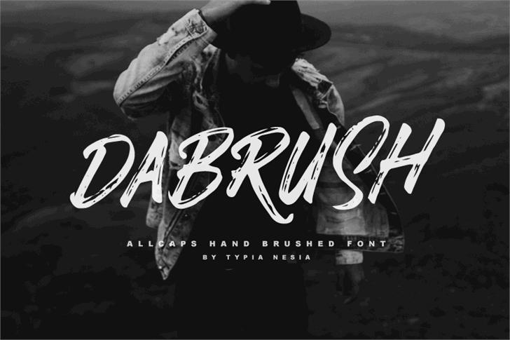 DABRUSH font by Typia Nesia