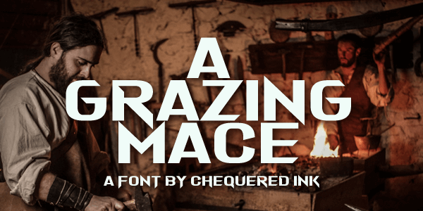 Image for A Grazing Mace font