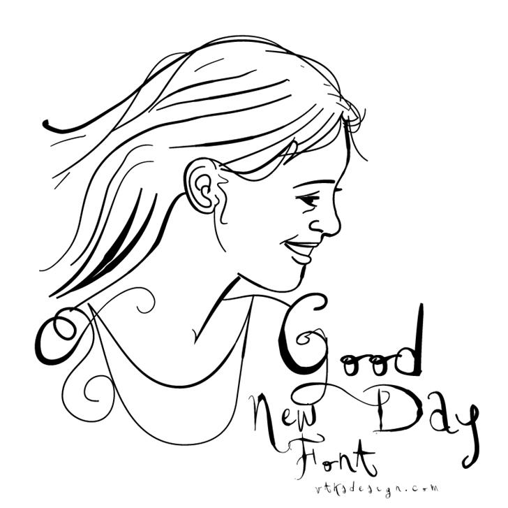 Image for Vtks Good Day font
