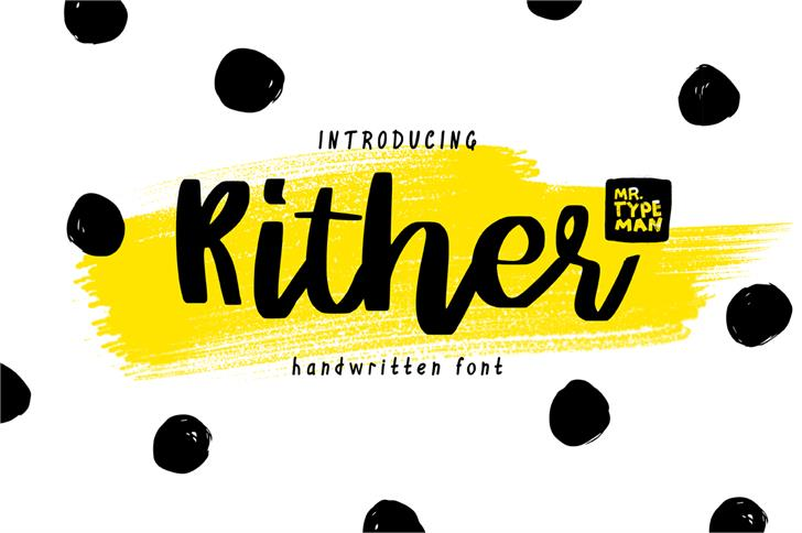 Image for Rither font