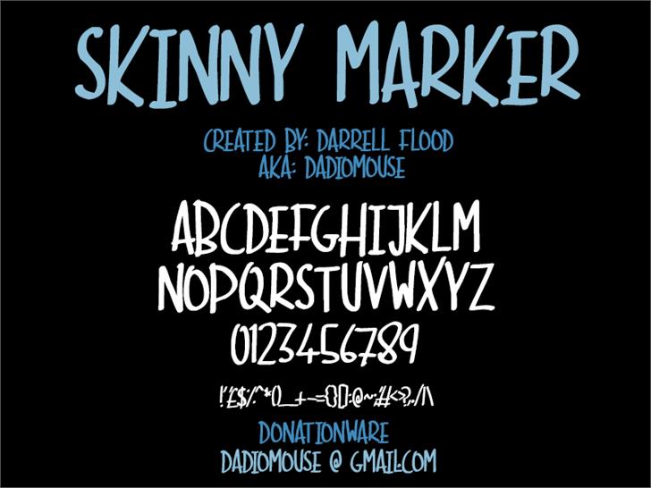 Image for Skinny Marker font