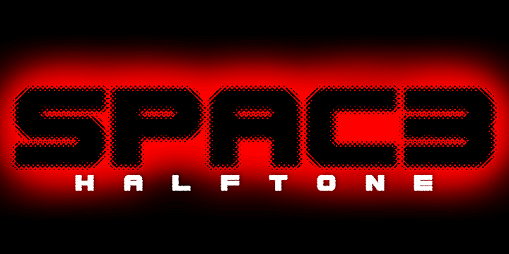 Image for Spac3 halftone font