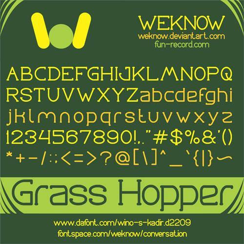 Image for Grass Hopper font