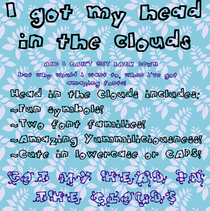 Image for HeadintheClouds font