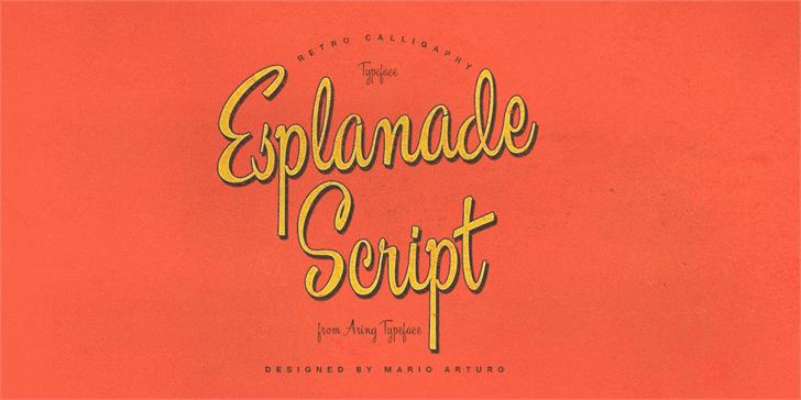 Esplanade Script PERSONAL USE font by Måns Grebäck