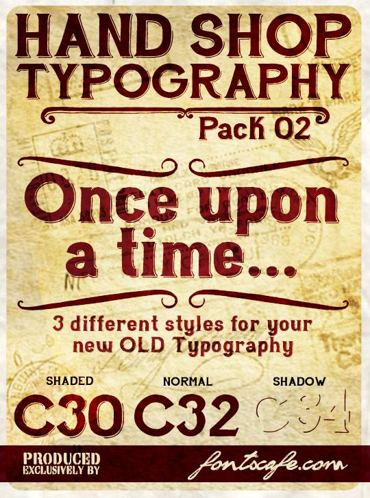 Hand Shop Typography C30_demo font by FontsCafe
