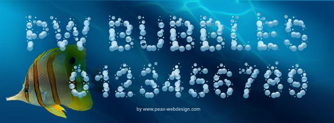 PWBubbles font by Peax Webdesign