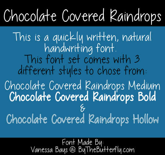 Image for Chocolate Covered Raindrops font
