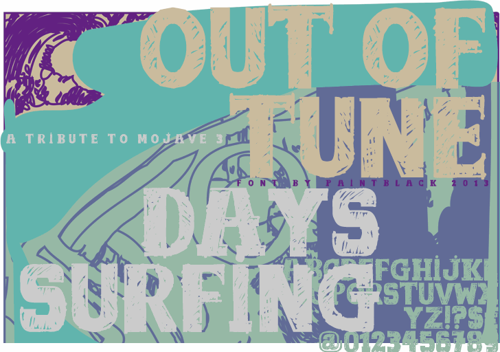 out of tune font by paintblack éditions