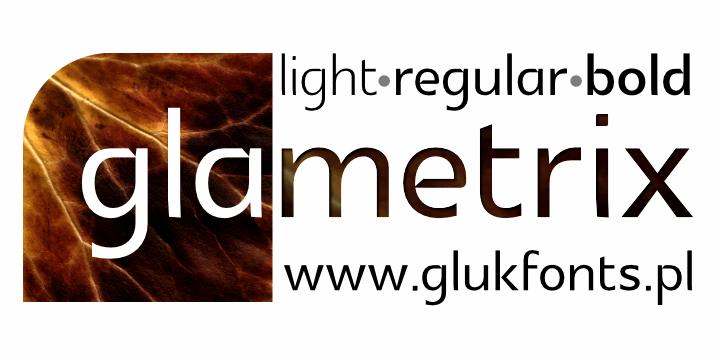 Image for Glametrix font