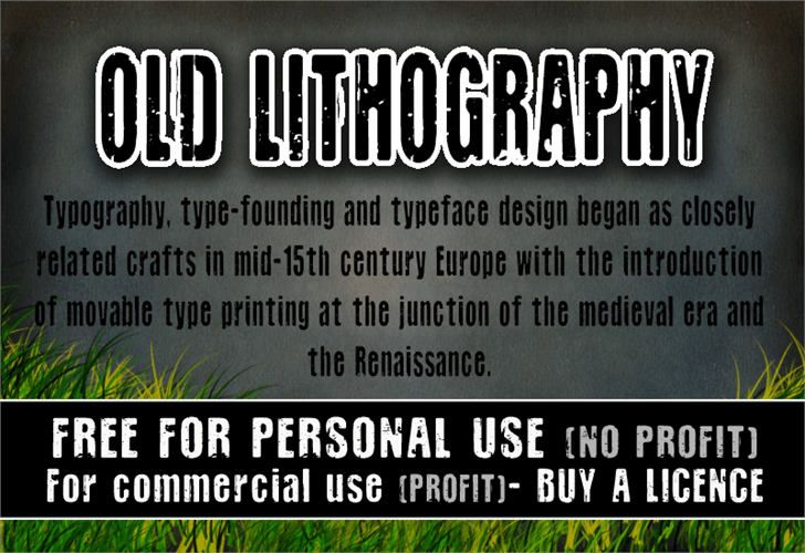 CF Old Lithography font by CloutierFontes