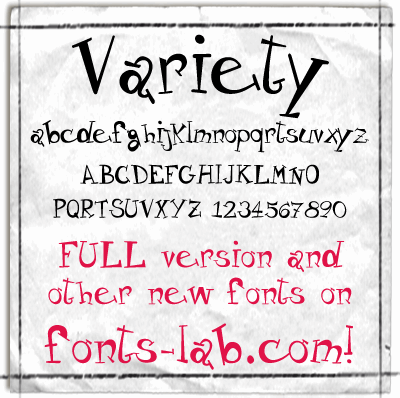 Image for Variety_free-version font