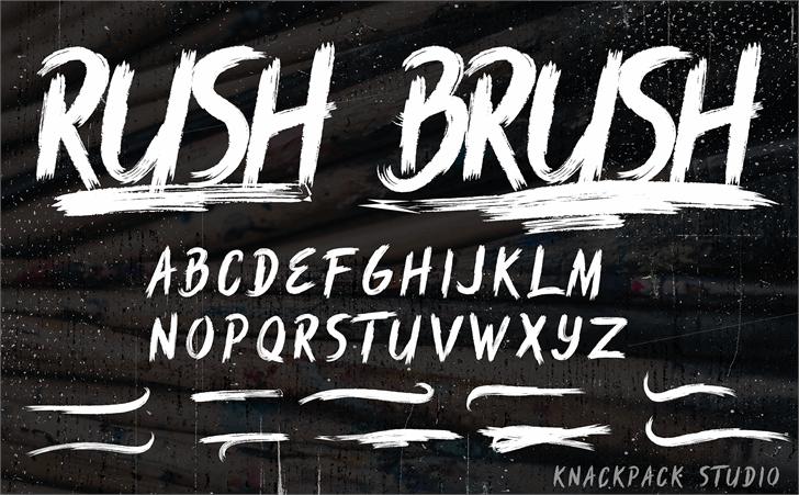 Rush Brush font by knackpackstudio