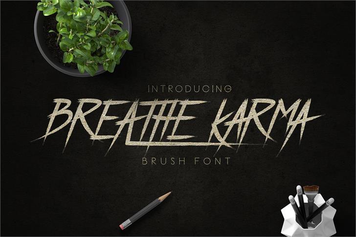 Image for Breathe Karma Italic font