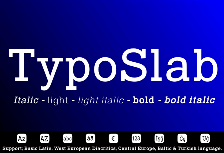 Image for Typo Slab font
