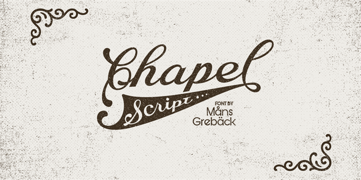 Image for Chapel Script PERSONAL USE font