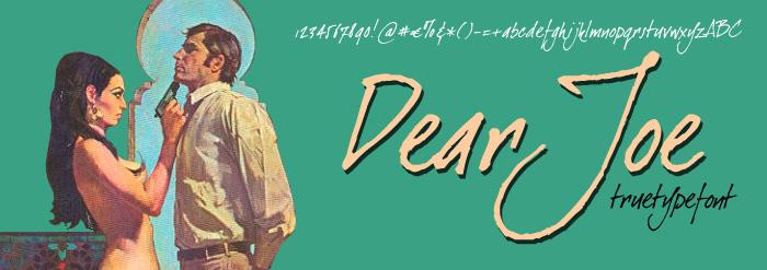 Image for Dear Joe font