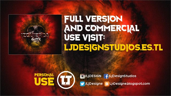 Izquierda font by LJ Design Studios