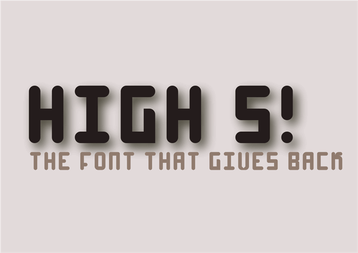 Image for High 4 font