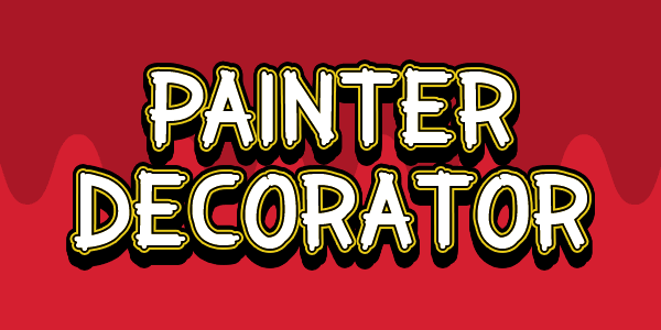 Painter Decorator font by Chequered Ink