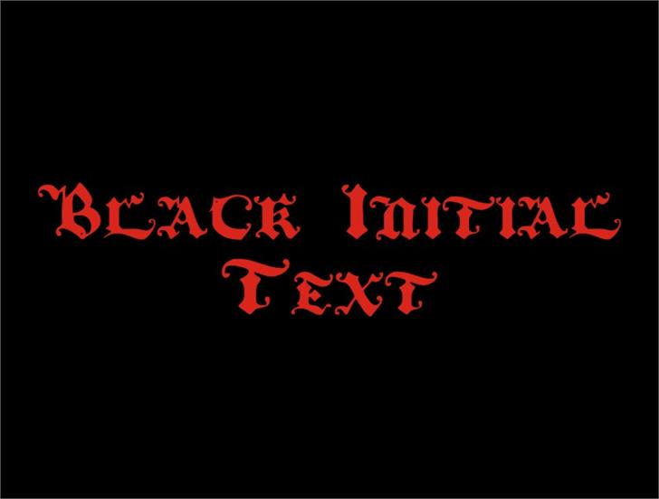 BlackInitialText font by Intellecta Design