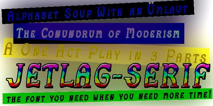 JetLag Med Serif font by moonmoth design