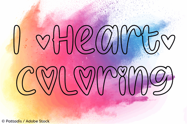 I Heart Coloring font by Misti's Fonts