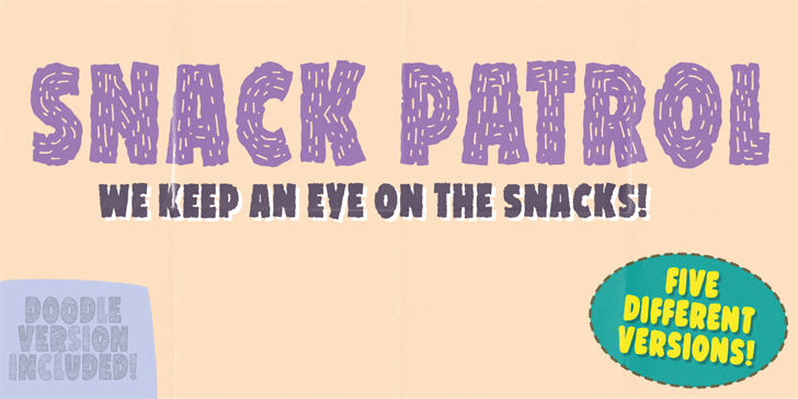 Image for Snack Patrol DEMO font