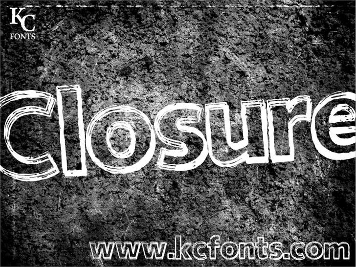 Closure font by KC Fonts