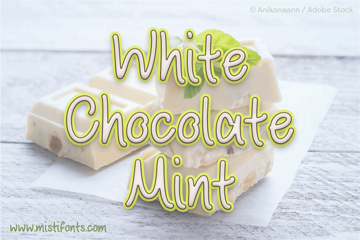 White Chocolate Mint font by Misti's Fonts