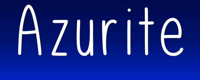 Image for Azurite font