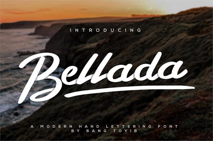 Bellada  font by Bangtoyib