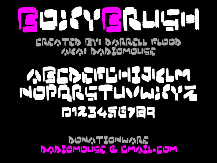 Image for Boxybrush font
