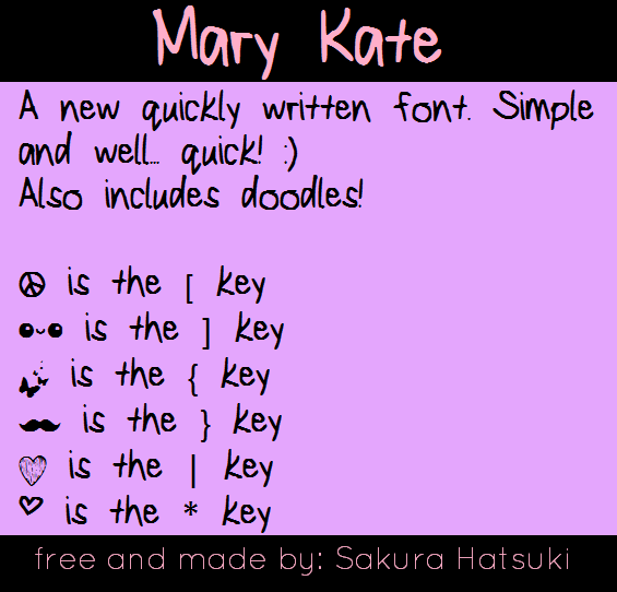 MaryKate font by fluffybanana101