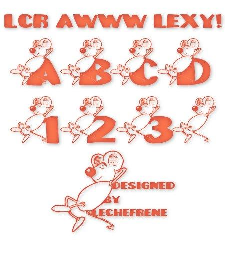Image for LCR Awww Lexy! font