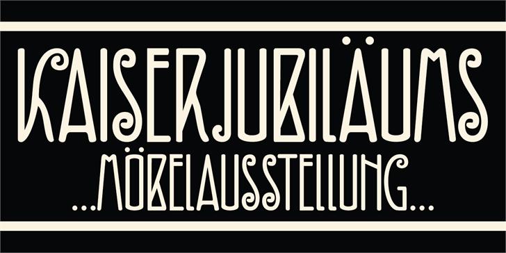DK Fiebiger Zwei font by David Kerkhoff