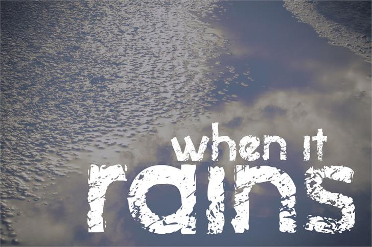Image for when it rains font