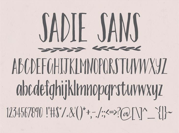 Image for Sadie Sans font