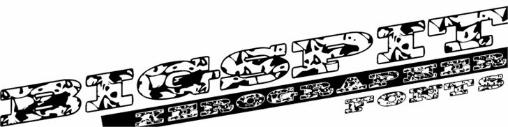 Image for BigSpit font