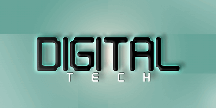 Image for Digital tech font